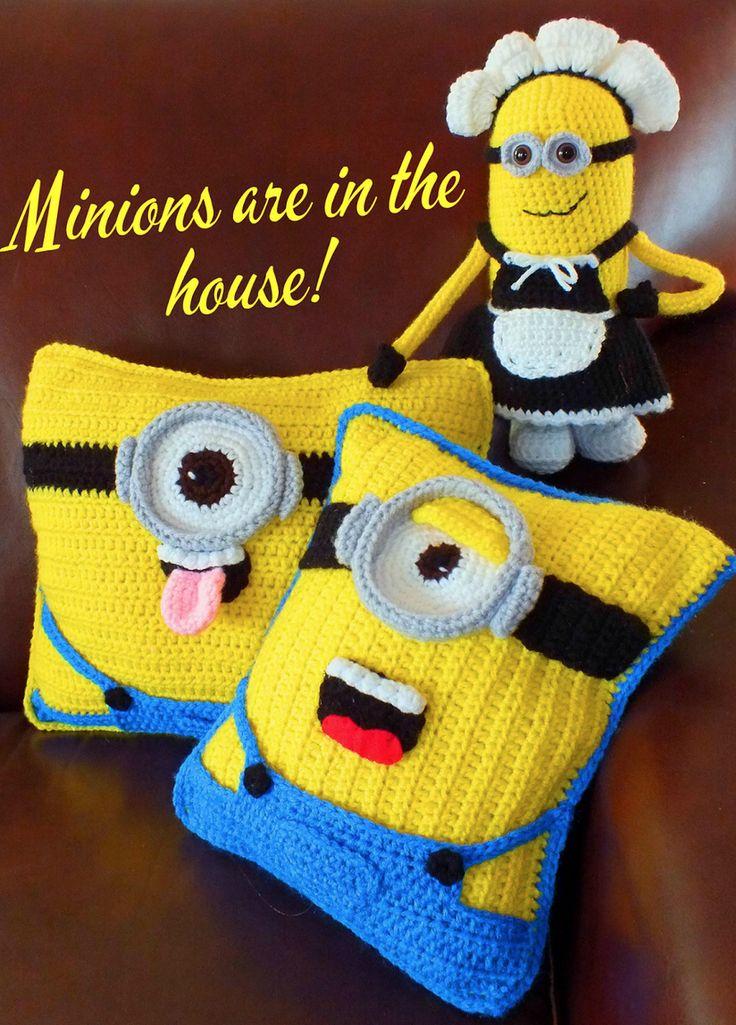Minion Crochet Cushion Pattern Best Collection | Gorros y