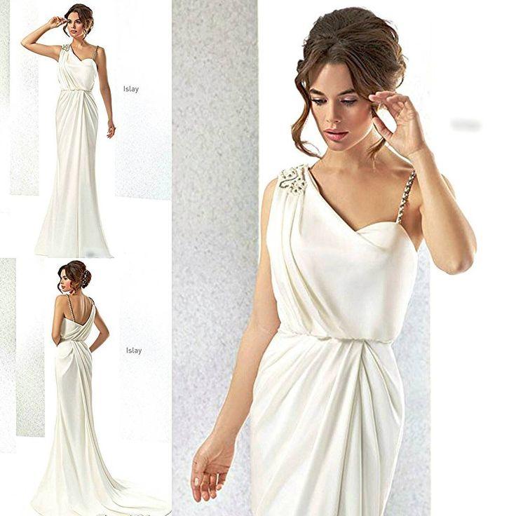«Свадебное платье от CABOTINE Свадебное платье из шелка в греческом стиле. Аппликация из кристаллов swarovski и жемчугов на одном плече. Красиво…»