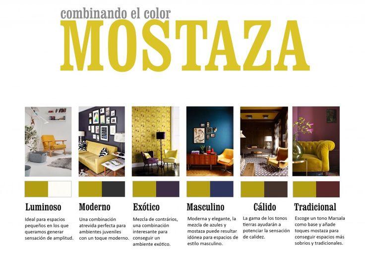 La decoración en color mostaza está de moda. Combinaciones posibles