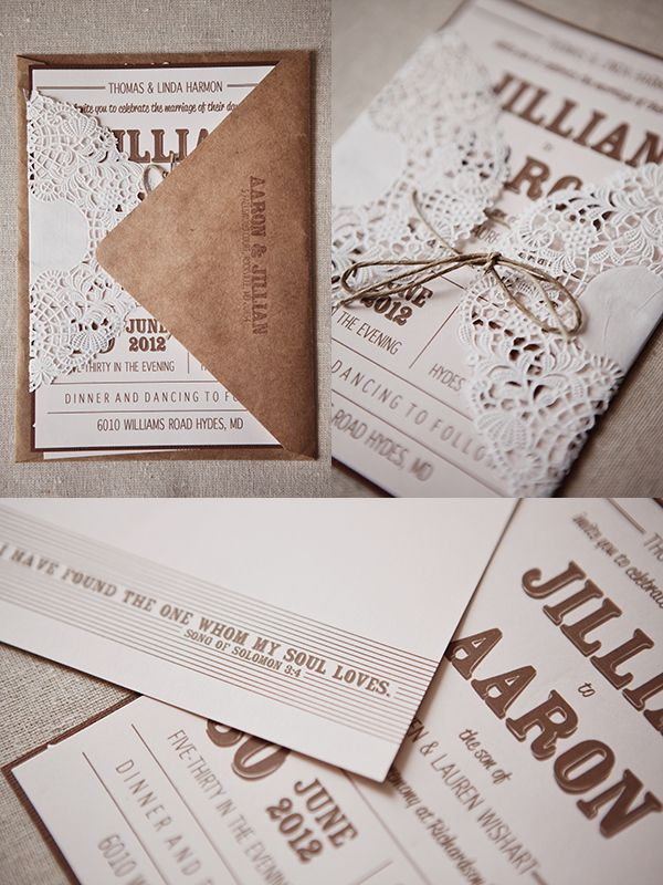 Gorgeous DIY wedding invitations made by the bride and groom!