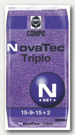 ΚΟΚΚΩΔΗ ΛΙΠΑΣΜΑΤΑ_NovaTec_NovaTec Triplo Σύνθεση: 15-9-15 +2MgO+B+Fe+Zn  Ιδανικό για βασικές λιπάνσεις και για καλλιέργειες με αυξημένες απαιτήσεις κυρίως σε φώσφορο, κάλιο, άζωτο μαγνήσιο και ιχνοστοιχεία.  Συσκευασίες: σάκοι των 40 και 25 κιλών.