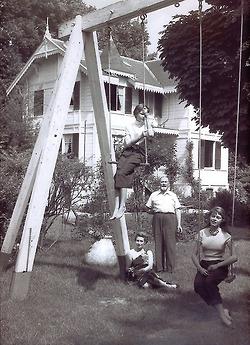 Brigitte Bardot with her family