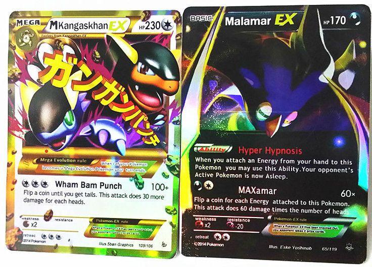 All Shiny 60pcs/Lot Japanese Anime Mega EX Pokemon Cards Pack ...
