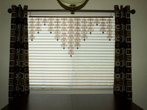 Copper Curtain Wall : Solid copper valance sun catcher swirl curtain