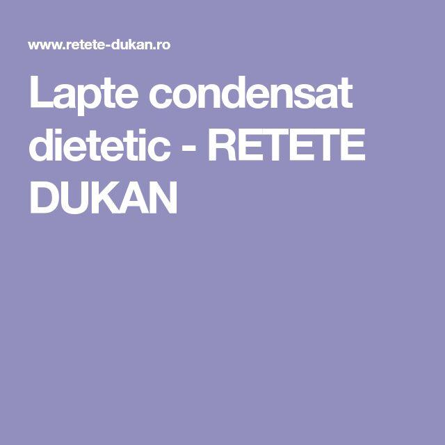 Lapte condensat dietetic - RETETE DUKAN