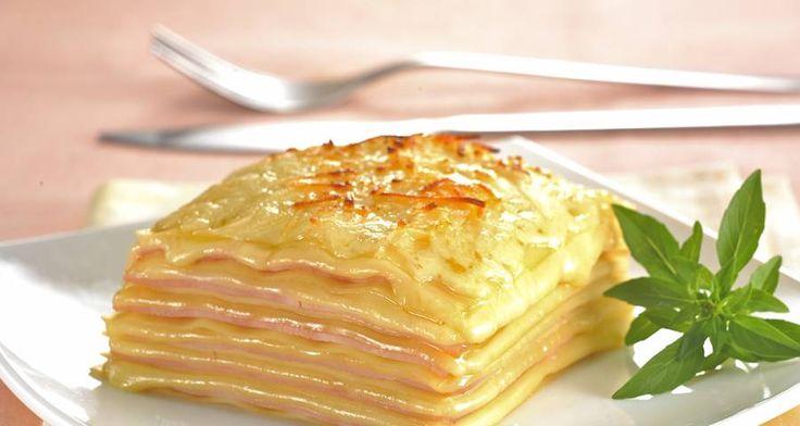 Receta de Lasaña de jamón y queso (7277)