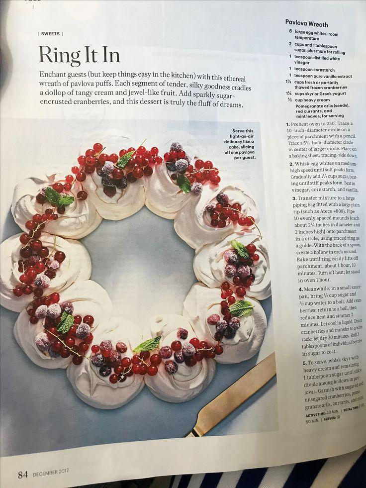 Martha Stewart Pavlova wreath