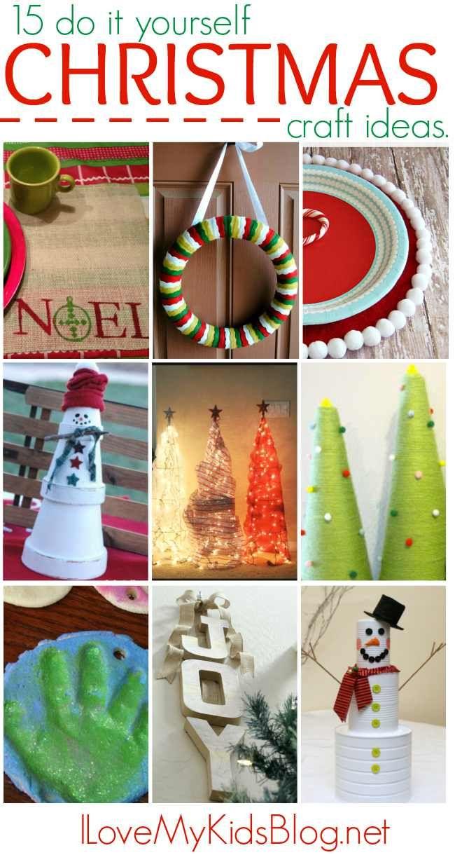 179 best christmas images on pinterest christmas deco christmas 15 do it yourself christmas craft ideas solutioingenieria Gallery