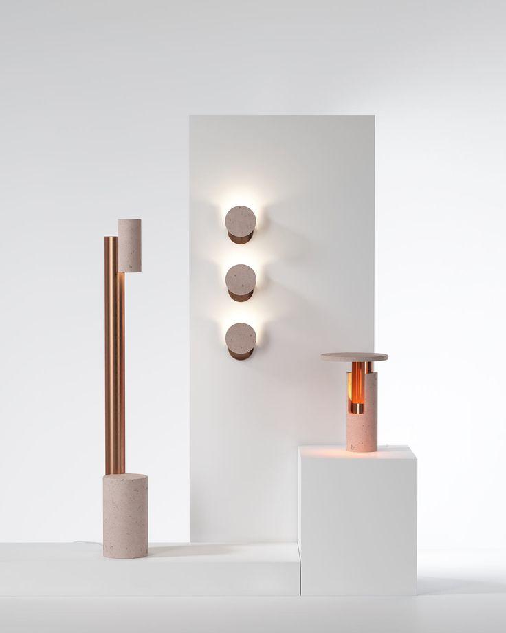 Ambra Rose Volcanic Rock Lamps by Studio davidpompa - Design Milk