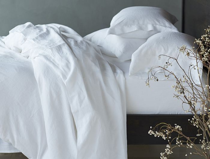 Relaxed Linen Shams Organic Duvet Covers White Duvet Covers