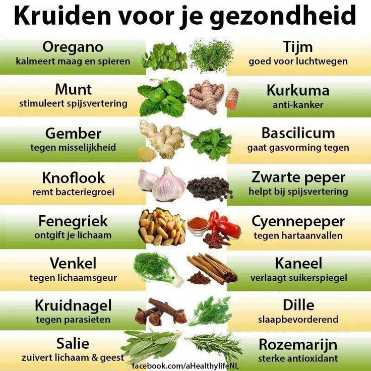 Kruiden voor je gezondheid
