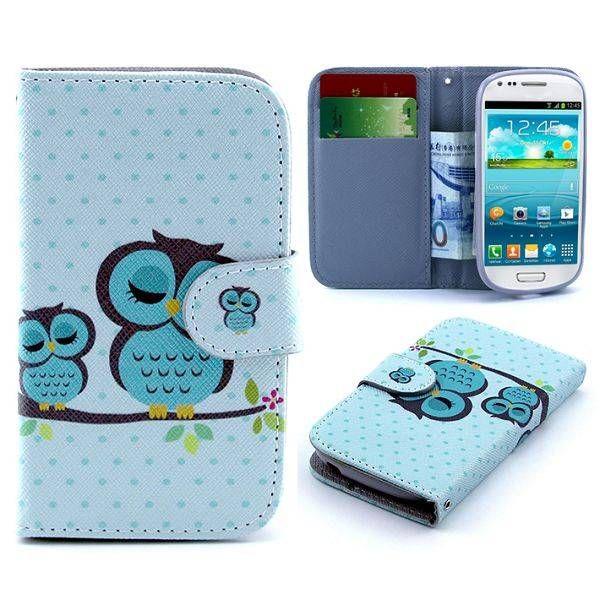 Slapende uiltjes bookcase voor Samsung Galaxy S3 mini