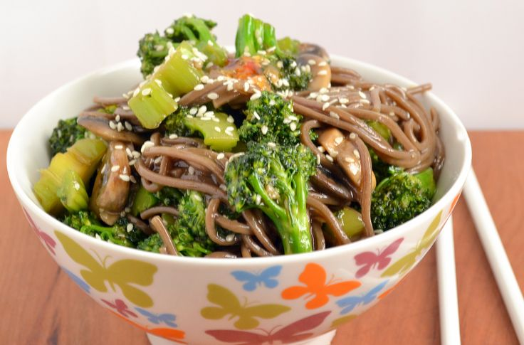 Alkaline Recipe #76: Chinese Stir Fry Buckwheat Noodles - This is a delicious, alkaline and easy to prepare Chinese Stir Fry which our customer Eliza Miesch emailed to us. This recipe contains buckwheat noodles, which are a healthier and more alkaline alternative to other types of noodles.