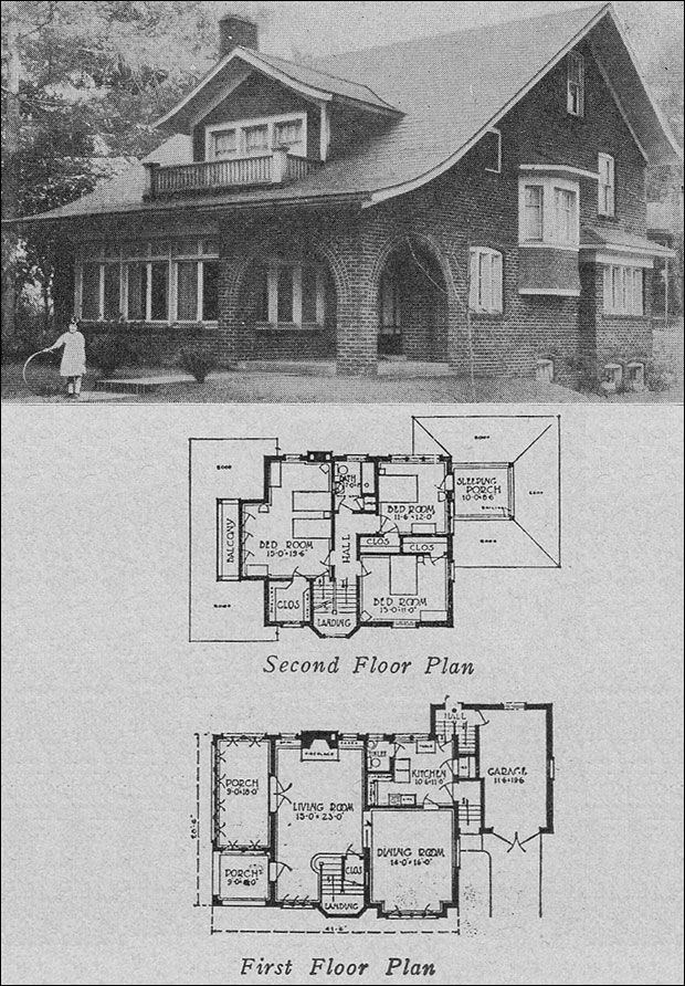 1923 books of a thousand homes 806 by schieber i 39 ve for House plans with sleeping porch