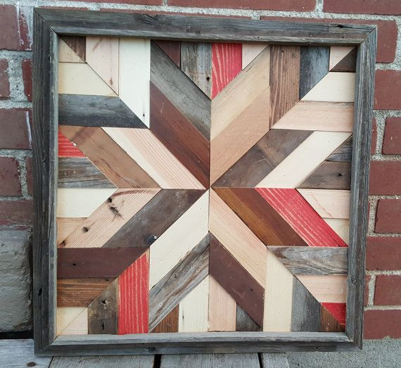 Rustic Barn Quilt Star  made from Reclaimed Barn by MRManCrafts