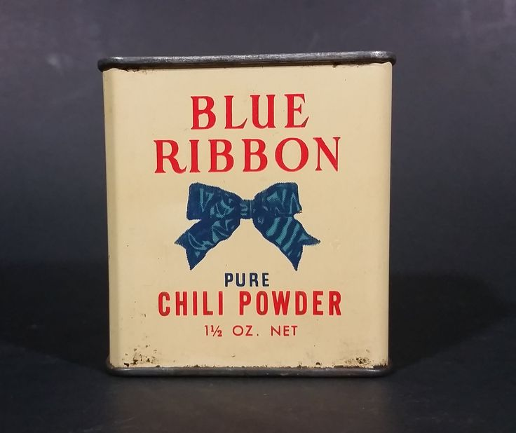 Vintage Blue Ribbon Limited Pure Chili Powder 1 1/2 oz Tin - has product - Vancouver Winnipeg Toronto https://treasurevalleyantiques.com/products/vintage-blue-ribbon-limited-pure-chili-powder-1-1-2-oz-tin-has-product-vancouver-winnipeg-toronto #Vintage #MidCentury #BlueRibbon #Pure #Chilis #ChiliPowder #Spice #Tins #VintageTins #Kitchen #Collectibles #Cooking #Spicy #Vancouver #Winnipeg #Toronto