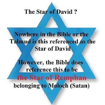 Act. 7:43 ~ Yea, ye took up the tabernacle of Moloch, and the star of your god Remphan, figures which ye made to worship them: and I will carry you away beyond Babylon. http://www.1timothy4-13.com/files/teach/magendavid.html