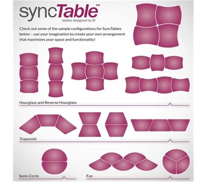 Sync table from BroDart for a flexible learning space.