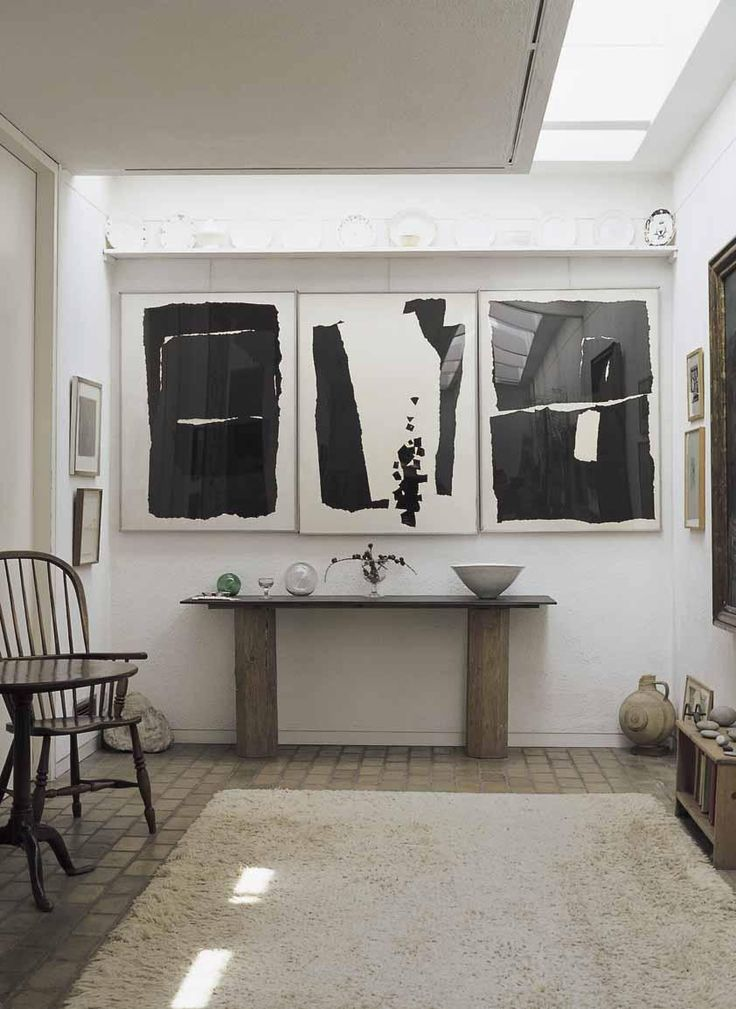 Enjoying The Prints But Replace The Rustic Console With Something In Cold  Silver. Monochrome InteriorInterior DesignFlag IdeasMinimalist ...