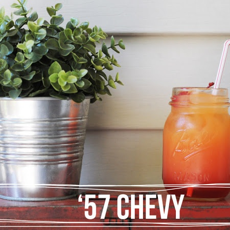57 Chevy alcoholic beverage. Sounds good...one of my favorites