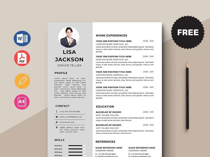 Free senior teller resume template in 2020 resume