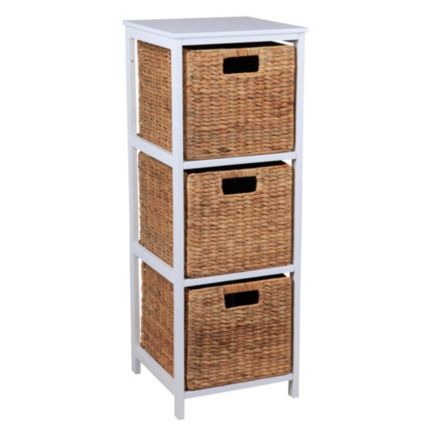 Form Beige & White MDF & Solid Pine 3 Drawer Tower Unit: Image 1