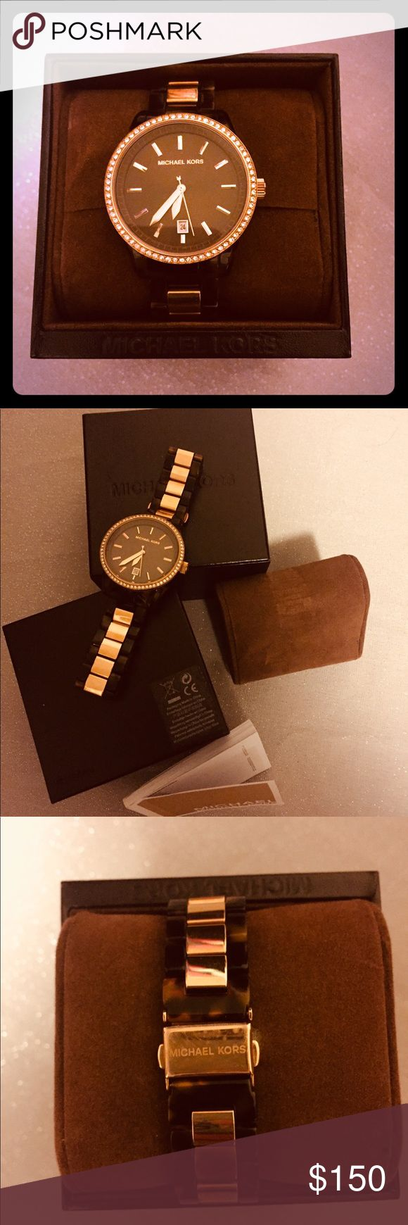 Michael Kors Watch MK-5714 Tortoise Shell Watch New In Box, No Tags KORS Michael Kors Accessories Watches