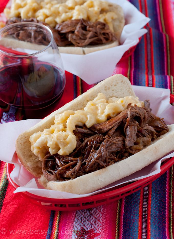 Braised beef, Mac cheese and Bbq beef on Pinterest
