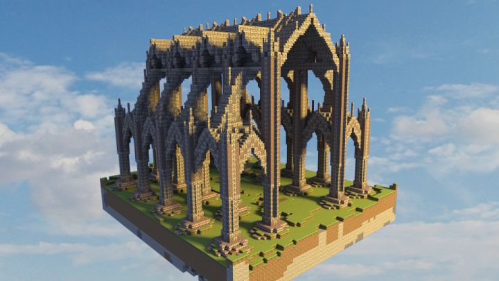 Gothic hall Minecraft Project