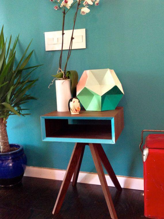 """midcentury modern inspired side table- """"Sputnik"""" on Etsy, $318.73 CAD"""