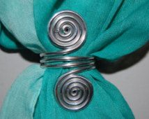 Image result for wire scarf rings