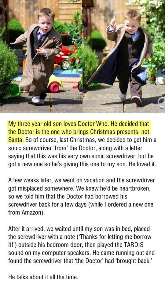 For Doctor Who families. #Imgur