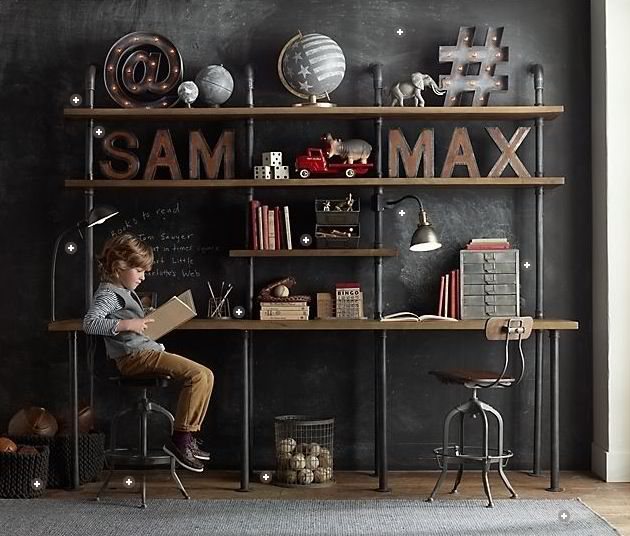 boys room ideas, love this for when the boys are older.