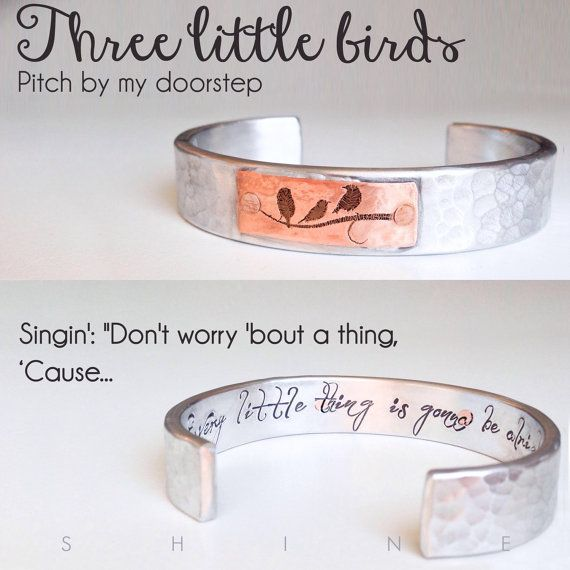 Three Little Birds Bracelet  Every Little Thing by shopSHINElife