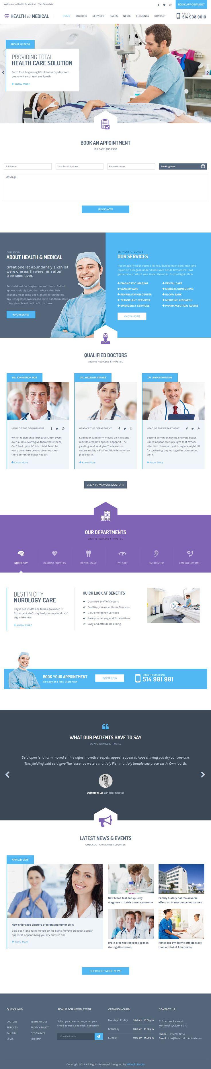 Health & Medical is Premium full Responsive Medical HTML5 Template. Retina Ready. Foundation 5 Framework. Social Links. SASS. #HTML5 #Foundation5Framework #Retina Test free demo at: http://www.responsivemiracle.com/cms/health-medical-premium-responsive-html5-template/
