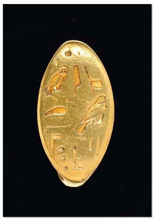 AN EGYPTIAN GOLD FINGER RING PTOLEMAIC PERIOD, 304-30 B.C. | Christie's