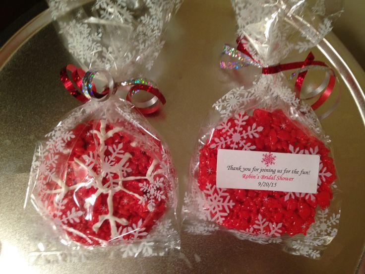 Pinterest Bridal Shower: Red Snowflakes Bridal Shower Favors For Theme