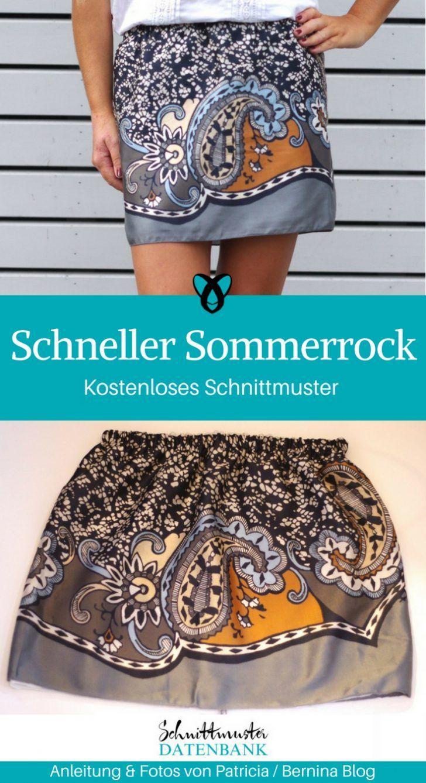 Schneller Sommerrock mit Futter 5/5 (1) Sommerrock+#Damen #Damenmode #für #Futt… – Alles zum Nähen