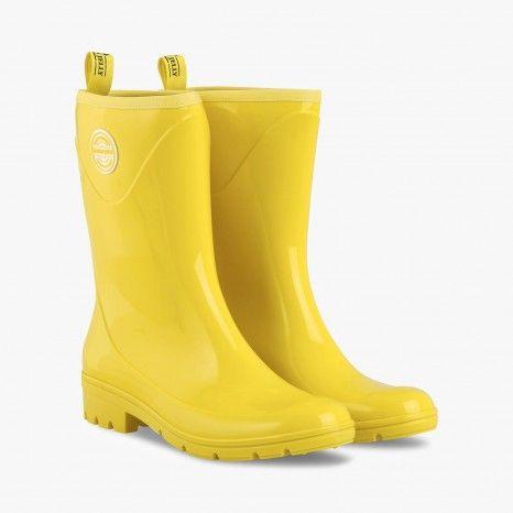 Bottes de pluie détail bicolore - LEMON JELLY #LeBonMarche #trend #tendance #nautique #pe2016 #ss2016 #mer #marin #femmes #women