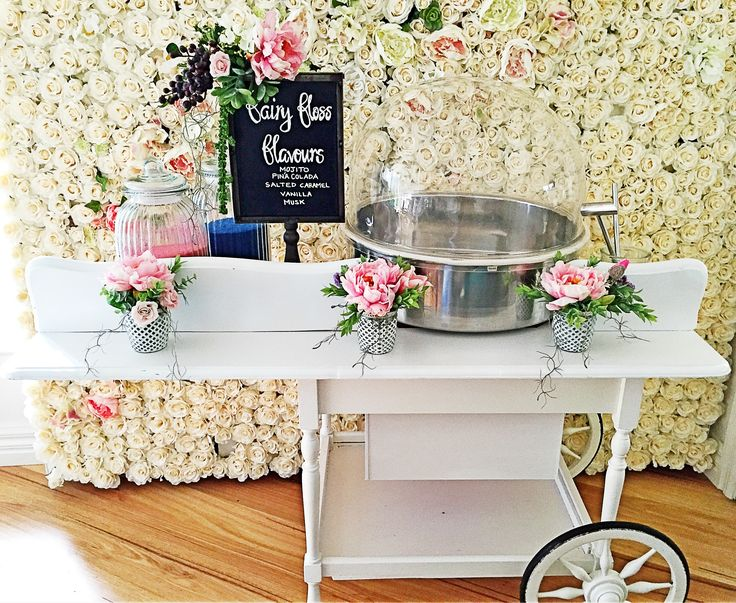 Fairy Floss Cart ~ Wedding day ready ~ Events by Alysia ~ Melbourne ~ Australia