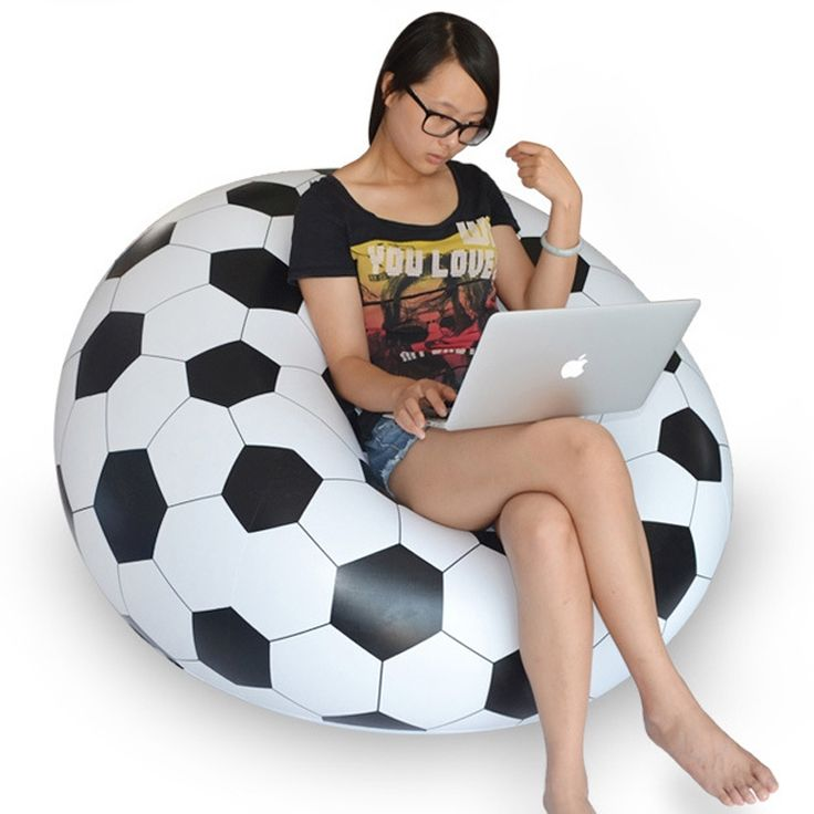 Inflatable Chair Sofa Soccer Football Bean Bag Portable Outdoor Garden Living Room Furniture Corner