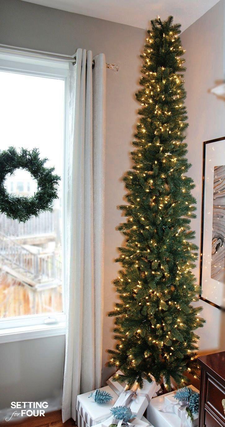 Creative Christmas Trees Ideas Some Christmas Tree Skirt Alternatives Also Christmas Christmas Decorations Apartment Christmas Apartment Pencil Christmas Tree