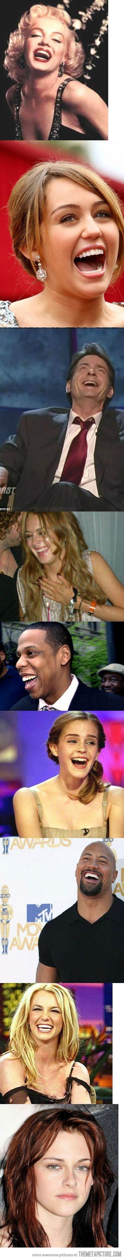 How famous celebrities laugh…