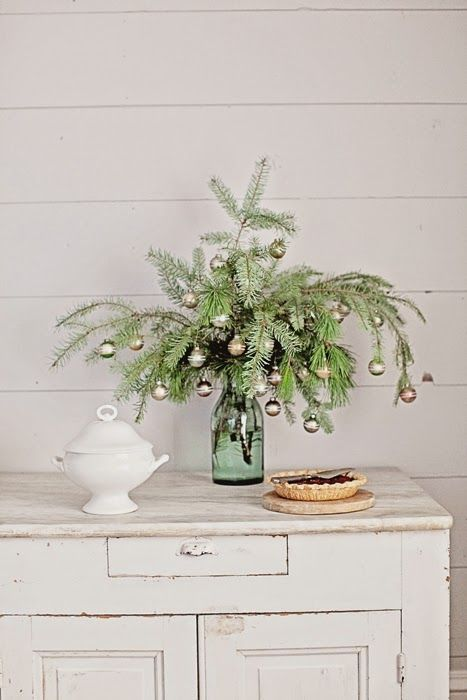 Dreamy Whites: French Farmhouse Christmas Collection 2014-love simple mass of mini silver balls