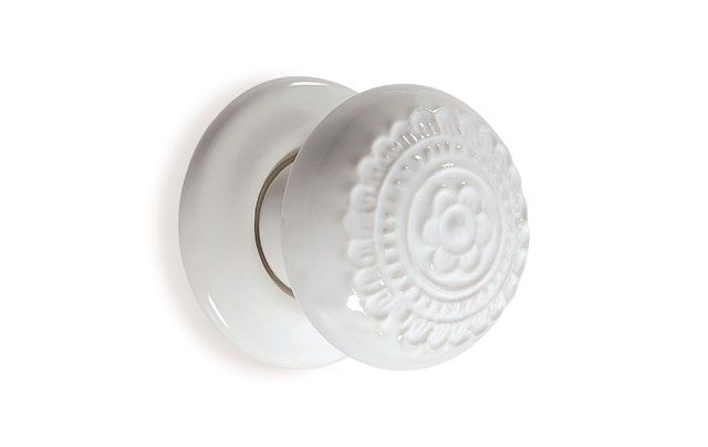 Boston Floral Ceramic Mortice Door Knob