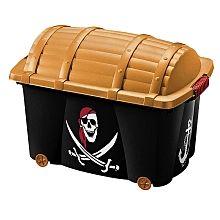 Schatztruhe Pirat mit Rollen
