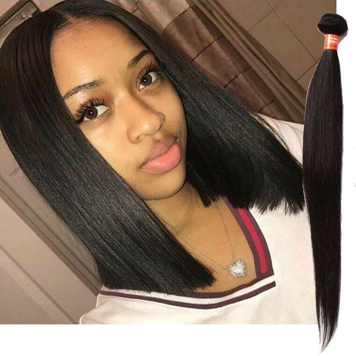 Best 25 real human hair extensions ideas on pinterest micro 22 remy real human hair extension 3bundles black straight hair weft weave pmusecretfo Gallery