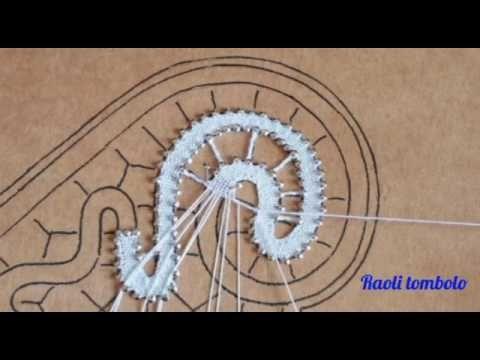 Merletto a tombolo - Centrino cuore 2a parte - YouTube