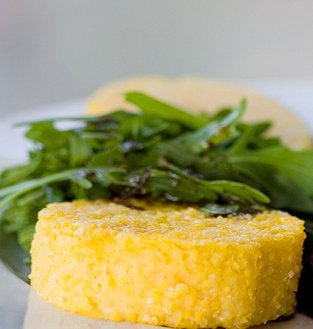 Bite-Sized Polenta Squares with Goat Cheese and Sun-Dried Tomatoes