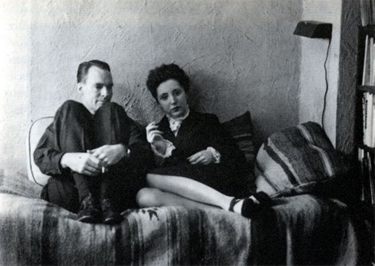 """""""We write to taste life twice, in the moment and in retrospect"""" – Anais Nin, with Henry Miller in the photo"""